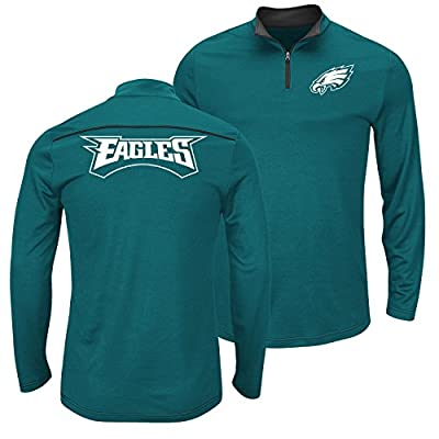 NFL Philadelphia Eagles Green Quarter Zip Ready & Willing Thermabase Synthetic Jacket