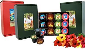 K-cup Coffee of the Month Club, Pure Kona and Kona Hawaiian K-cups Shipped Monthly for Six Months, First Shipment Is Gift Boxed, for Christmas, Birthdays, All Occasions