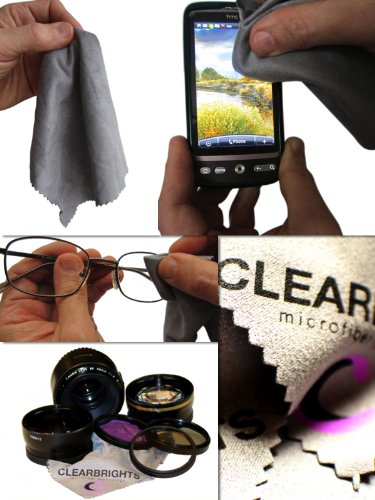 Christmas Sale Special -Premium Grade 6 Pack Clearbrights Lens & Screen Microfiber Cleaning Cloths-Lint Free-Super Efficient-1 Yr Guarantee-Highest Quality-Best Cleaner For Eyeglasses-Camera-Lenses-Tablet-Ipad-Iphone-Cell Phone-Touch Screen-Laptop-Compute