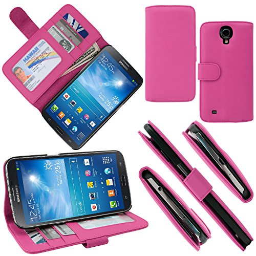 Celljoy Samsung Galaxy Mega 6.3 Case Protective [Wallet Hybrid] Leather Credit Card Wallet Case Protection Cover For Galaxy Mega 6.3 [Retail Packaged] (Pink)