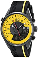 SO&CO New York Men's 5044.3 SoHo Analog-Digital Display Analog Quartz Black Watch by SO&CO MFG