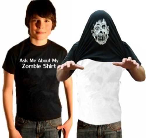 Kids Zombie Costume Shirt - Ask Me About My Zombie Shirt Youth T-Shirt #55 / #1337