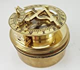 Box Sundial Compass with Latitude Adjustment Nautical Natural Sine Anchor