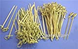 JapanBargain - 100pcs Bamboo Skewers Twisted ends 4 inch