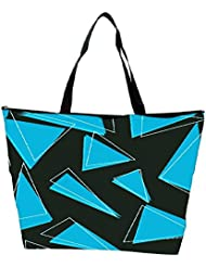 Snoogg Blue Pieces Of Triangle Designer Waterproof Bag Made Of High Strength Nylon