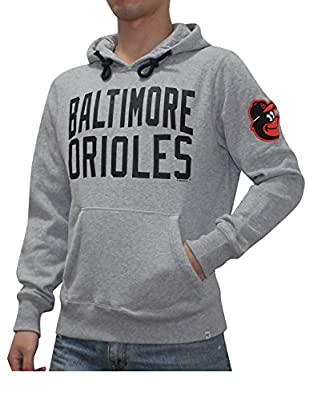 MLB Baltimore Orioles Mens Athletic Warm Pullover Hoodie / Sweatshirt