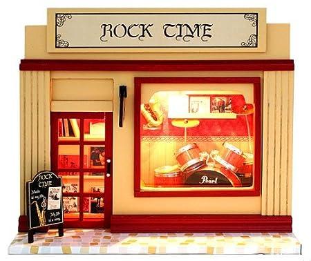Recommande pour le don de pleine echelle de lumiere jusqu'à miniature maison de poupee magasin de musique