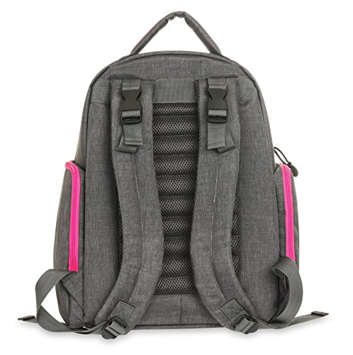carter 39 s sport back pack diaper bag grey pink luggage. Black Bedroom Furniture Sets. Home Design Ideas