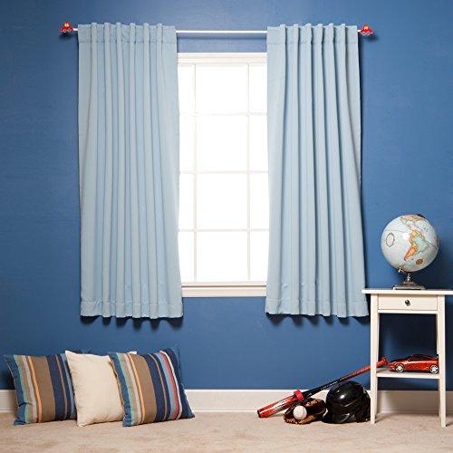 Best Home Fashion - Tenda termica isolante oscurante, 183 cm (L), 2 pannelli, blu, 183cm L