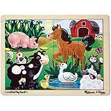Melissa & Doug On the Farm Jigsaw Puzzle 12 pc