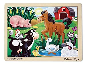 Melissa & Doug On the Farm Jigsaw (12 pc)
