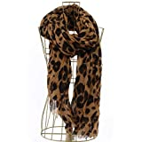 Designer Inspired Leopard Scarf - Brown