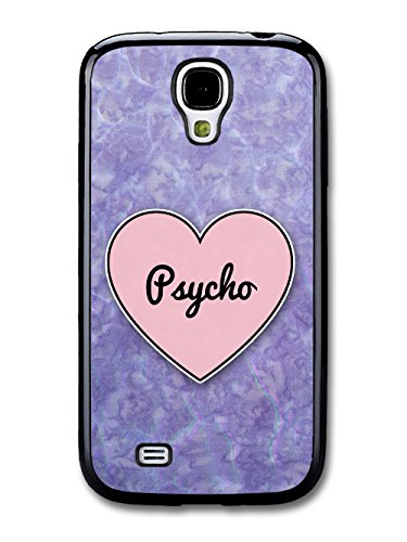 Psycho Heart in Lilac Grunge Hipster Background custodia per Samsung Galaxy S4