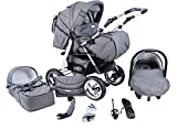 Clamaro 'VIP 3in1' Premium Kinderwagen 3 in 1 Kombi (über...