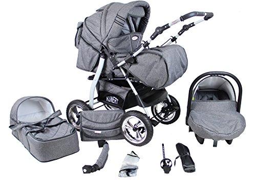 Clamaro-VIP-3in1-Premium-Kinderwagen-3-in-1-Kombi-ber-40-Farben-whlbar-Kombikinderwagen-Komplettset-mit-Soft-Babywanne-Sport-Buggy-und-Auto-Babyschale-Aufsatz-ISOFIX-Felge-ALU-Hartgummi-Reifen-Farbmus