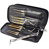 Ehdching 24pcs Leather Packing Titanize Scissors And Single Hook Lock Tools