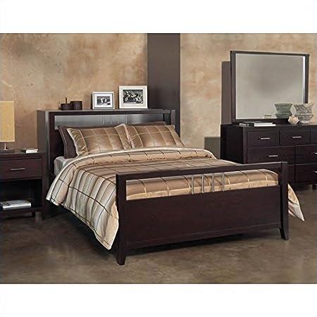 Modus Furniture Modus Nevis Platform Storage Bed in Espresso 5 Piece Bedroom Set