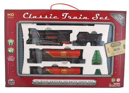 WowToyz Classic Train Set with Carry Case- Steam Engine with Tanker