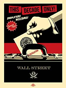 Shoplifters Welcome - Red (Silkscreen Signed Limited Edition of 50) art print by Jamie Reid & Shepard Fairey, 66.5cm x 87.5cm