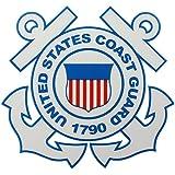 """U.S. Coast Guard Round 4"""" Clear Decal"""