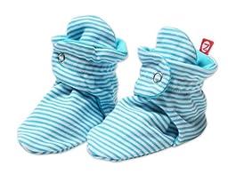 Zutano Unisex-Baby Newborn Candy Stripe Booties, Pool, 3 Months