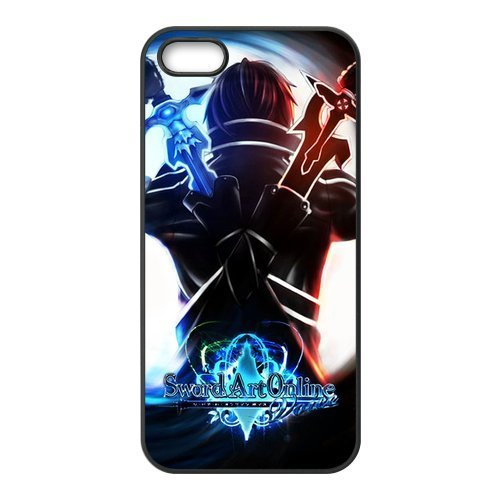 FEEL.Q- Sword Art Online SAO Anime Cartoon Protective Hard TPU Rubber iPhone 5 & 5S Case Cover