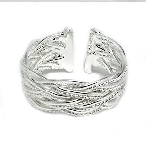 Stylish Silver Adjustable Celtic Knot Thumb Ring