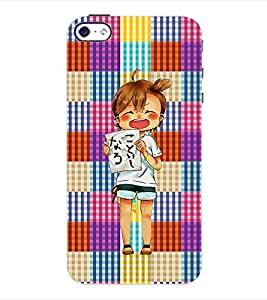 ColourCraft Cartoon Back Case Cover for APPLE IPHONE 4S