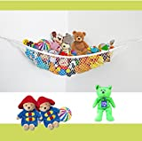 Jumbo Toy Hammock-Hanging Storage-Organizer-The Fast-Fun Way To Display & Declutter-Optimum Size (72 x 48 x 48 Inches)-Multi-Purpose - Wall Or Ceiling Storage - Deluxe Model Toys Hammock For Stuffed Animal Toys-Games-Teddy Bears-Toy Box Alternative-Easy To Install-Durable Made To Last