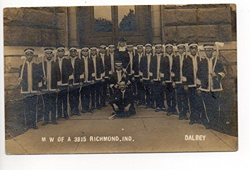 M W of A 3815 Richmond Indiana Photo Antique Unused Postcard P7