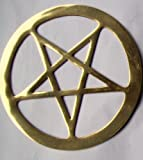 Brass Pentagram 15 cm/ 6