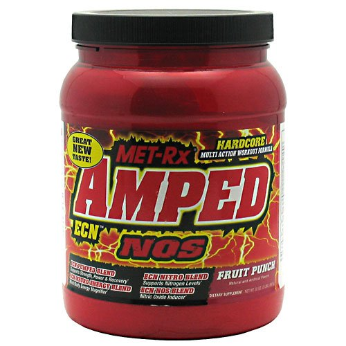 Amped ECN, Post Workout Drink Mix, Fruit Punch, 2 lbs, From Met Rx