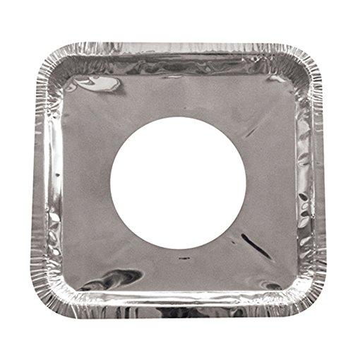 """20 Aluminum Foil Square Gas Burner Bib Liners Covers Disposable Wholesale 8.25"""" front-783104"""