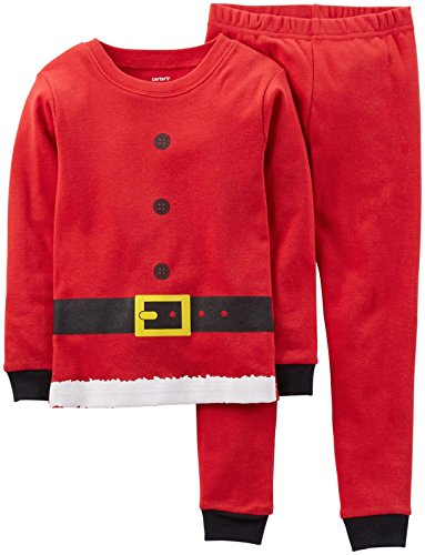 Carter's Unisex Baby 2 Piece Holiday PJ Set (Baby) - Santa Suit