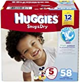 Huggies Snug & Dry Disney Baby Stage 5 Diapers (Over 27 lb) – 58 CT