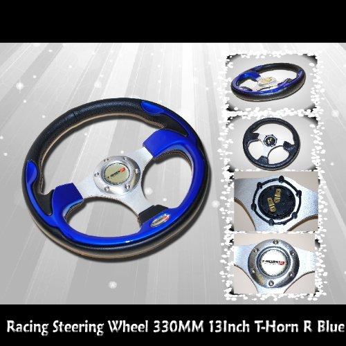 Racing Steering Wheel 330mm Blue/Black Universal NEW