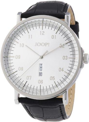 Joop JP100821F01 - Reloj analógico de cuarzo para hombre con correa de piel, color negro