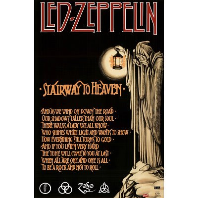 (22X34) Led Zeppelin Stairway To Heaven Music Poster Print