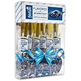 Sea Salted Caramel Coffee Spoon Gift Box - Gourmet Flavored Spoons - By Dilettante (2 Pack)