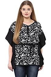 Alto Moda by Pantaloons Women's Tunic ( 205000005648317, Black, XX-Large)