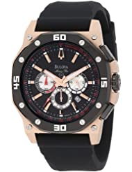 Bulova Men's 98B118 Marine Star Black Dial Watch