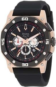 Bulova Men's 98B118 Marine Star Black Dial Watch