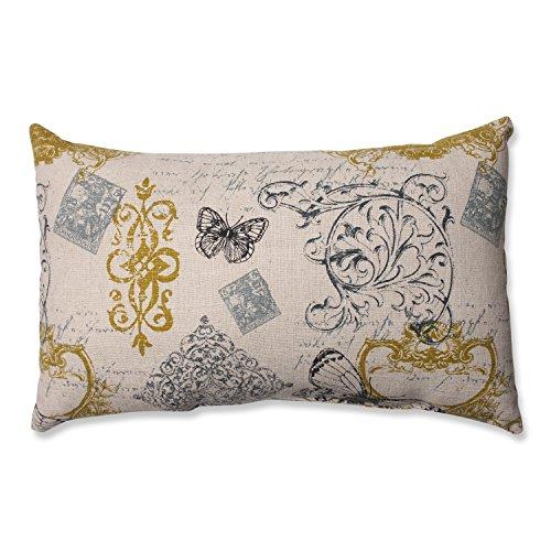 Pillow Perfect Butterfly Scroll Rectangular Throw Pillow