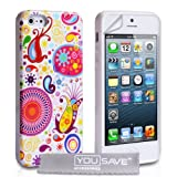 Yousave Accessories Silicone Jellyfish Case for iPhone 5/5S - White/Multicolouredby Yousave Accessories