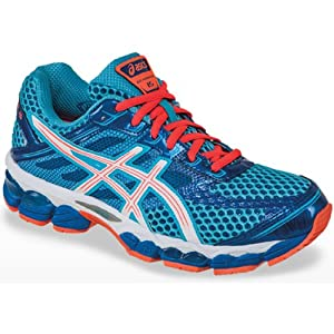 ASICS Women's GEL-Cumulus 15 Running Shoe,Turquoise/Lightning/Electric Melon,8.5 M US