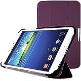 EasyAcc® Hülle für Samsung Galaxy Tab 3 8.0 T3100 / T3110 Schutzhülle Flip Case Book Cover Hüllen Ledertasche lederhülle mit Standfunktion / Auto Sleep - Kunstleder, Lila