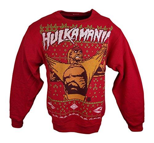Hulk Hogan Hulkamania WWE Ugly Christmas Mens Sweater Sweatshirt