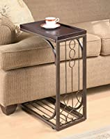 Coaster 900280 Snack Table with Burnished Copper Base, Brown by Coaster