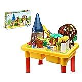 Happy Ville Family Farm Building Blocks Table Set - 54 Pieces