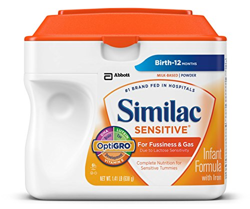 Similac Sensitive Infant Formula With Iron, Powder, 23.3 Ounces (Pack Of 6) (Packaging May Vary)